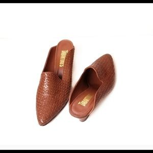 Women's woven spring brown mule